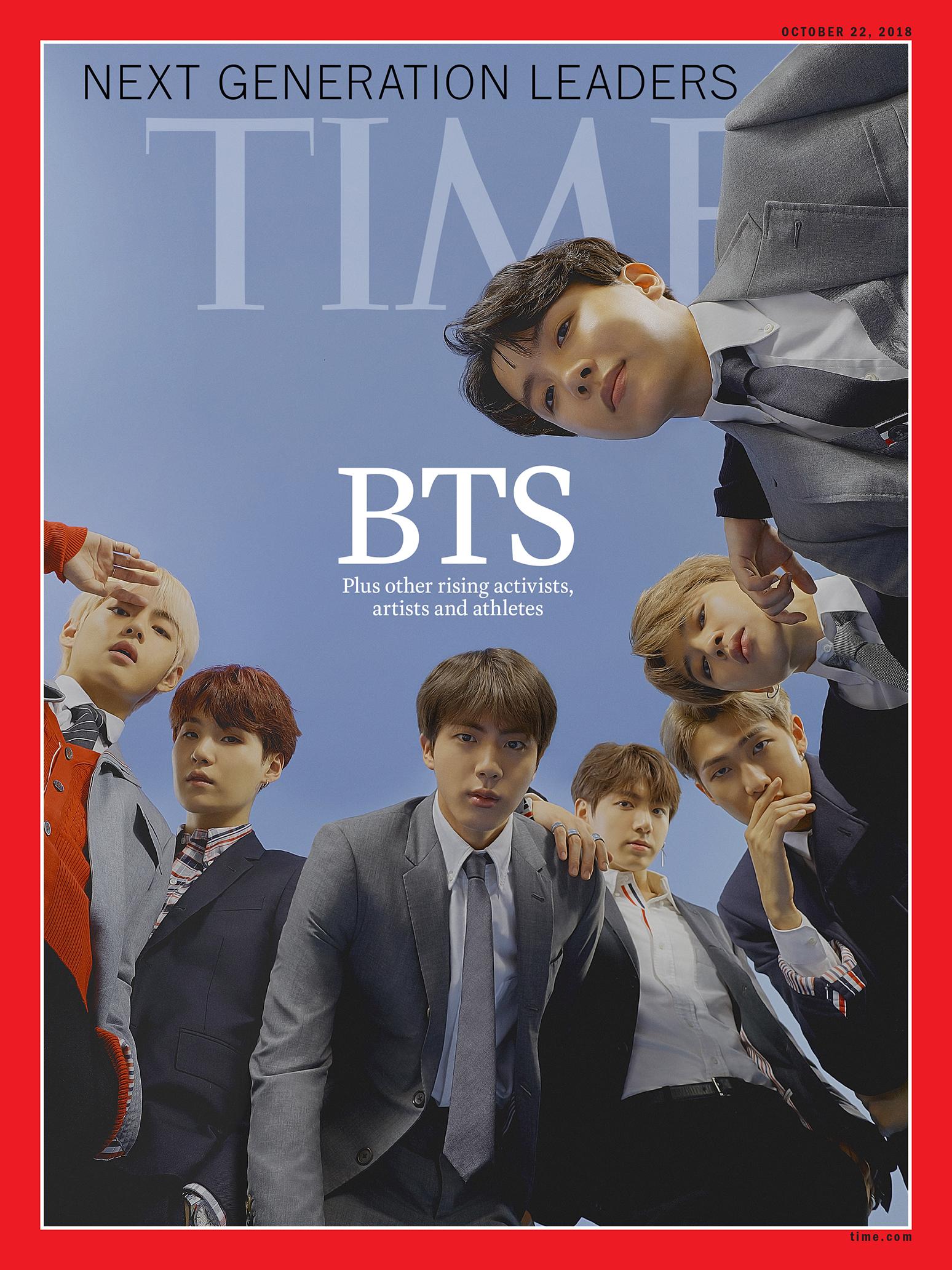 벨소리 BTS가 타임즈 잡지의 '차세대 리더' 리스트에 선정됨